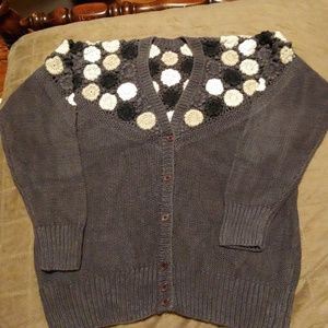 Sweaters - 🛍* Vintage * 80's Crocheted Cardigan